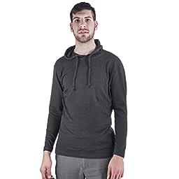 ARCTIC POLE Mens Lightweight Tri Blend Hoodie Tee Shirt NO Pockets Medium, Black