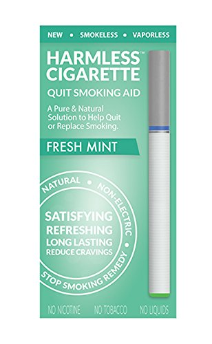 Harmless Cigarette Therapeutic Solution / Best Quit Smoking Product - Quit Smoking Aid to Help Quit or Replace Smoking (Fresh Mint)