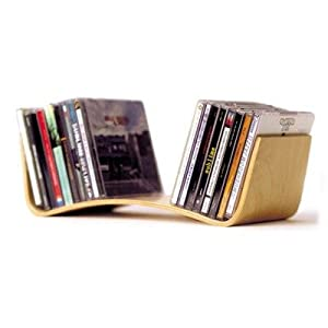 Modern Mini Bent Ply Stand for CDs or Books