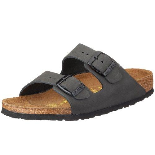 Birkenstock Arizona Nubuck Leather, Style-No. 51333, Unisex Clogs, Basalt, EU 46, slim width