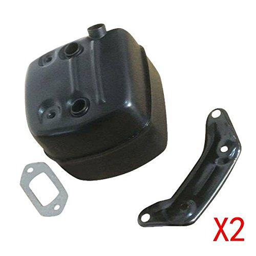 Generic-2-Schalldmpfer-WT-Halterung-Passform-Husqvarna-365-371-372-x-p-385-390-XP-Motorsge
