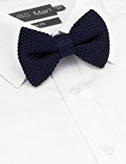 Autograph Pure Silk Knitted Bow Tie
