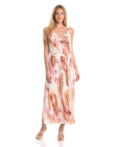 Calvin Klein Women's Maxi Dress, Hibiscus Multi, Medium