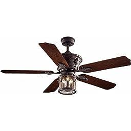 Hampton Bay Milton 52 In. Indoor/outdoor Oxide Bronze Patina Ceiling Fan