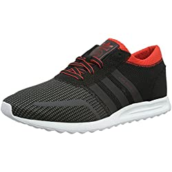 Adidas Los Angeles, Low-Top Sneaker, Schwarz (Core Black/Dgh Solid Grey/Red), 44 2/3 EU
