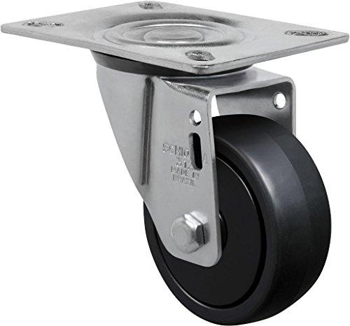 "Schioppa L12 Series, Gl 312 Npp, 3 X 1-1/4"" Swivel Caster, Non-Marking Polypropylene Wheel, 150 Lbs, Plate 3-1/8 X 4-1/8"" (Bolt Holes 3-1/8 X 2-1/4"") front-532810"
