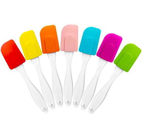 Acerich Heat Resistant Silicone Spatula Set (Set of 7) (Food Spatula compare prices)