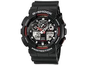 Casio Men's GA100-1A4 G-Shock X-Large Analog-Digital Black Dial Sports Watch from Casio