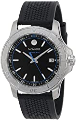 "Movado Men's 2600109 ""Series 800"" Stainless Steel Watch with Black Rubber Band"