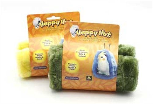 Multipet Happy Hut Plush Cage Hut for Birds,