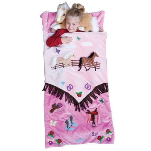 Carsten Home Girls' Cowgirl Sleeping Bag Pink One Size