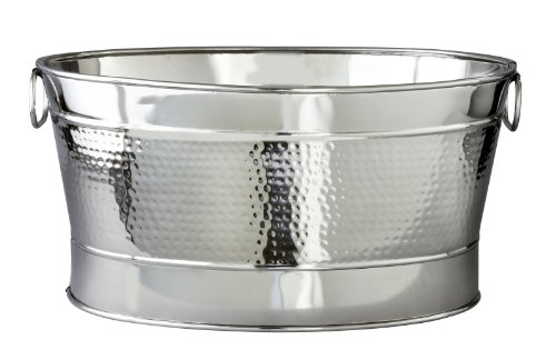 Gain Elegance Hammered 20-1/2 By 14 By 9-Inch Stainless Steel Party Tub lowestprice