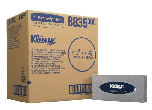 KLEENEX FACIAL TISSUE BOX WHT 8835PK21