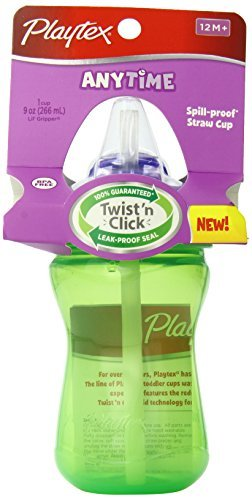 Playtex 265 ml Baby Lil' Gripper Twist 'n Click Straw Cup (Color May Vary) by Playtex (Playtex Lil Gripper Straw Cup compare prices)