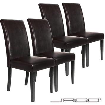 Lot ensemble de 4 chaises pour salle manger ou salon for Chaise de salon en cuir