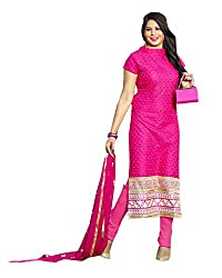 YOUR STYLE VOL.3 DARK PINK EMBRODERY WORK MATERIAL BY BALKRISHNA FABRICS