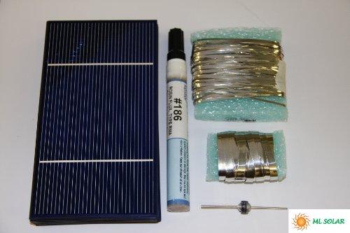 80 Prime Solar Cell DIY Kit  Solar Tabbing, Bus,