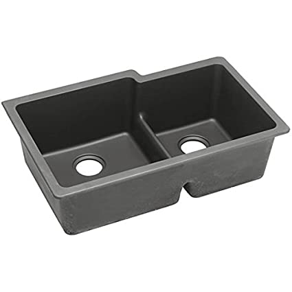 Elkay ELGULBO3322GY0 - Gourmet E-Granite Double Bowl Undermount Sink