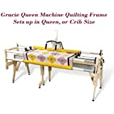 Grace Gracie Queen Machine Quilting Frame, QuiltCad Pattern Software, Bungee Clamps Included