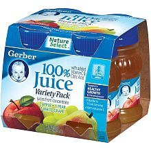 Gerber Baby 100% Juice Variety Pack 16 oz. 4 Count. (Baby Apple Juice compare prices)