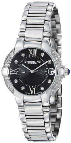 Stuhrling Original Donna 338L.12111 Symphony Regent Countess Elite Swiss Quartz Genuine Diamond Date Bracelet Orologio