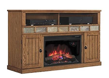 ClassicFlame Margate Electric Fireplace Media Cabinet in Premium Oak - 26MM1754-O107