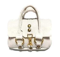 12 Inch Doll Handbag/Doll Size White Fashion Handbag