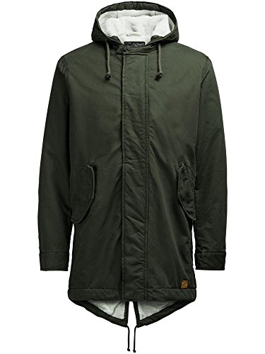 JACK&JONES 12110120 BENSON PARKA FOREST NIGHT CAPOSPALLA E GIUBBOTTI Uomo FOREST NIGHT S