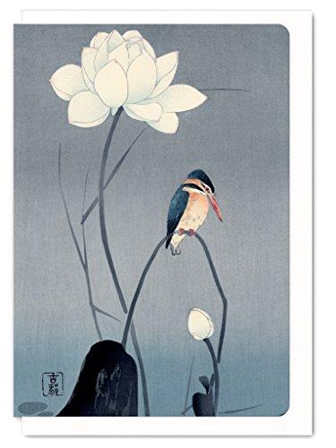 ezen-disenos-a6-tarjeta-de-felicitacion-de-martin-pescador-y-flor-japones