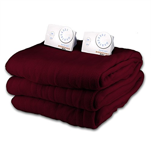 Why Choose Soft Microplush Queen Size Electric Heated Blanket by Biddeford (Dark Crimson)