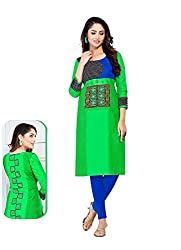 Comfortica Ethnicwear Women's Unstitched Kurti Fabric Multi-Coloured Free Size (JKMaya1004)