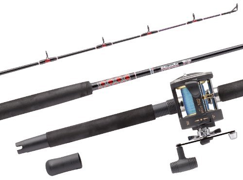Abu Garcia MT702SWH/GT345 RH 2PC Boat Rod and Reel Combo - 15-40lb , -7 ft