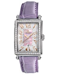 Gevril Women's 7248RL.14A Pink Mother-of-Pearl Genuine Alligator Strap Watch