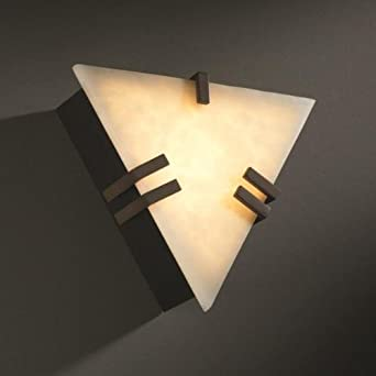 CLD-5552-BLKN-LED-1000 - Justice Design - Clips Triangle Wall Sconce (ADA) Black Nickel Finish - Clouds