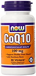 NOW Foods CoQ10 100mg with Hawthorn Berry - 90 VCaps
