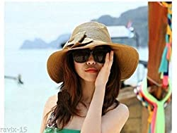 ENVOGUE BEACH HAT, CAP, SUN HAT, BRIM STRAW HAT WITH BOW, UV & SUNTAN PROTECTION , GENUINE IMPORT FROM SINGAPORE STAND OUT OF THE CROWD