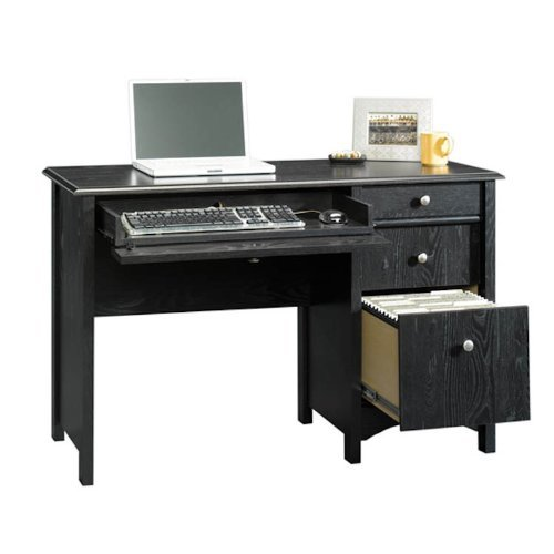 Buy Low Price Comfortable Estate Black Computer Desk with File Drawer (B003OELJEU)