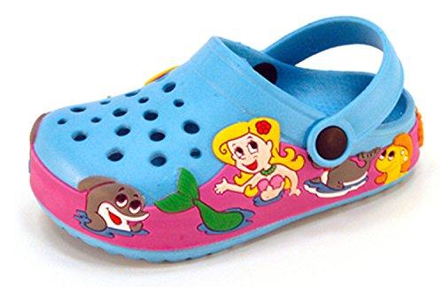 Kids Baby Little Kids Girls Toddler Mermaid Clog Summer Shoes (Toddler 11, Light Blue)