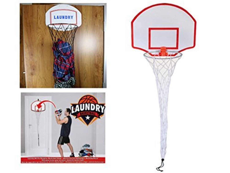 Laundry basketball hoop door hanging fun overdoor novelty bed kids game by e bargains uk - Laundry basket basketball hoop ...