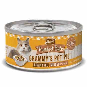 Merrick Purrfect Bistro Grain Free Grammy'S Pot Pie Canned Cat Food, 5.5 Oz., Case Of 24