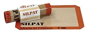 "Silpat AE295205-01 Premium Non-Stick Silicone Baking Mat, 8-1/4"" x 11-3/4"""