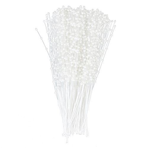 Big Save! 100 Stems Faux Pearl Bead Spray Wedding Bouquet Cakes Crafts White