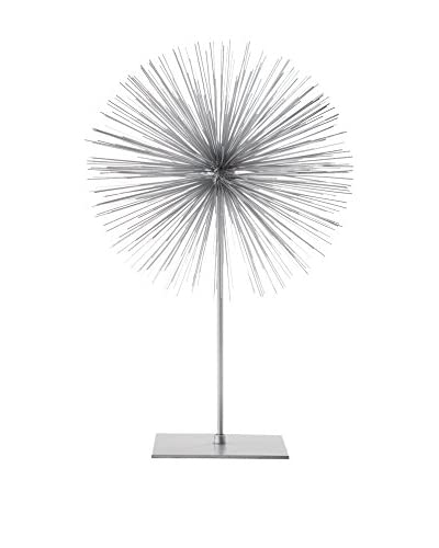 Torre & Tagus Spike Sphere Sculpture, Tall, Silver