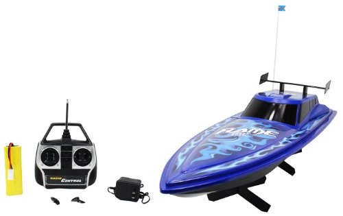 Large High Speed Blue Flame King Cruiser Electric RTR RC Boat Big Remote Control Quality RC Boat Powerful Dual Propellers Perfect for Lakes, Ponds, Rivers, and Pools