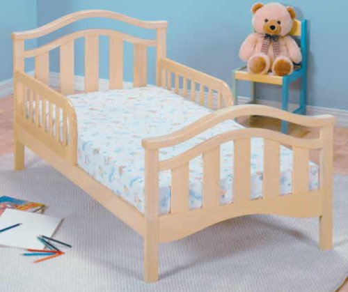 Wooden San Tropez Toddler Bed with 2 Safety Rails