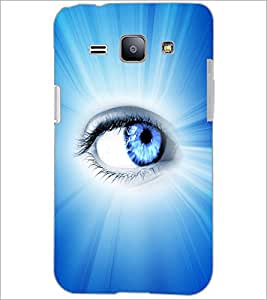 PrintDhaba Eye D-3346 Back Case Cover for SAMSUNG GALAXY J1 (Multi-Coloured)