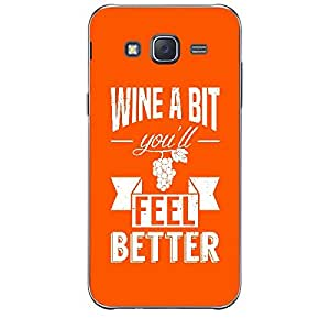 Skin4gadgets Awesome Wine & Dine Quotes, Pattern 12, Color - Dark Orange Phone Skin for SAMSUNG GALAXY J7