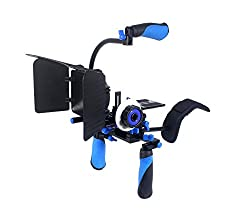 Powerpak Shoulder Support Rig for DSLR DV Cameras RL-02+Set With Follow Foucs F0 + Mattebox M1 + Top Handle