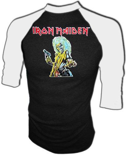 Vintage Iron Maiden 1981 Killers Iron-On Concert Jersey Heavy Metal T-Shirt, medium