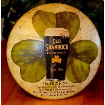 OLD SHAMROCK STOUT Vintage Metal Tin Sign Bar Irish Pub